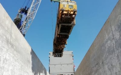 Spotted: MV Marie loading locomotives in Morocco